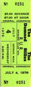 Bookie's Ticket Stub - The Damned and The Sillies